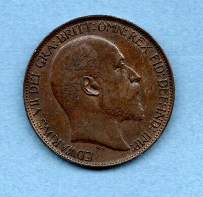 1902 Halfpenny Coin. King Edward Vii. Lovely Condition.