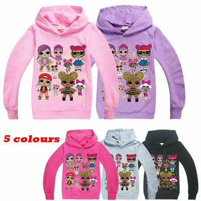 LOL Surprise Dolls Kids Hoodie Sweatshirt Tops Girls Pullover Casual Clothes UK
