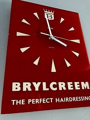 Original Smiths Advertising Barbers Shop Brylcreem Cream Clock