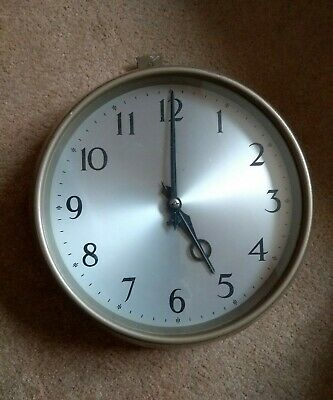 A Vintage G.p.o Electric Wall Clock