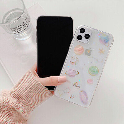 Glitter Space planet Soft Silicon phone Case Cover for iphone 11 8 7 6 XR XS MAX