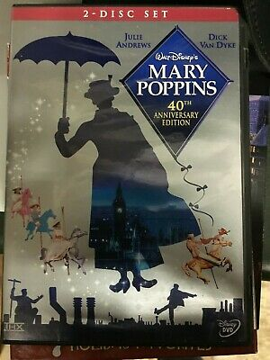 Mary Poppins (40th Anniversary Edition) DVD 2004 ~ 2 Disc Set with Insert