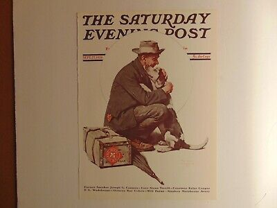 The Saturday Evening Post SEPT 27,1924  (REPRINT) Norman Rockwell (COVER ONLY)