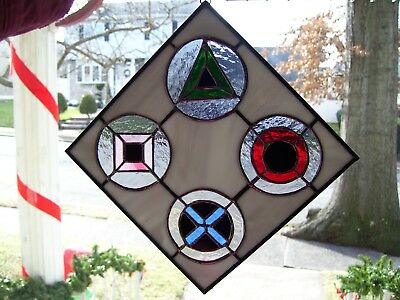Stained Glass 10.5/'/' x 8 /'/' Sun Catcher Chinese Happiness 9058-12