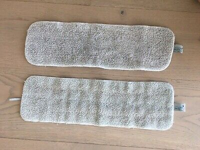 Set of 2 White Ecloth Deep Clean Mop Heads