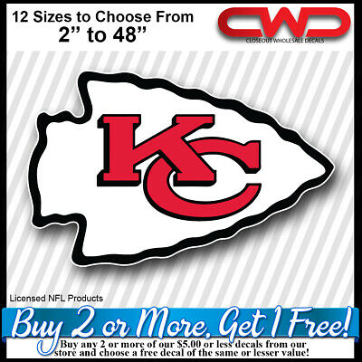 Kansas City Chiefs NFL Football Logo Sports Licensed Decal Sticker Free Shipping