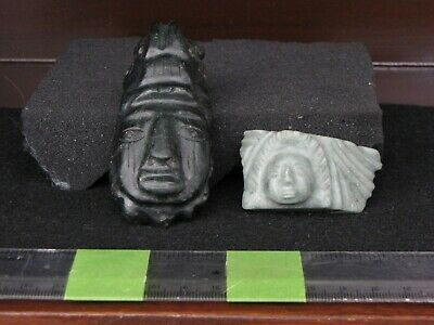 Replicas, Post Coumbian, Stone, Central American, Two Choice Stone Carvings
