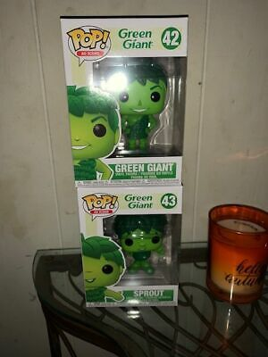 GREEN GIANT & SPROUT Funko Pop! set Ad Icons 42 & 43~L@@K!!!!