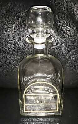 Rare Collectable Currency Creek Olde Liqueur Muscat Decanter Good Used Condition