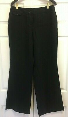 Ann Taylor LOFT Black Julie Dress Linen Pants - Size 10 EUC
