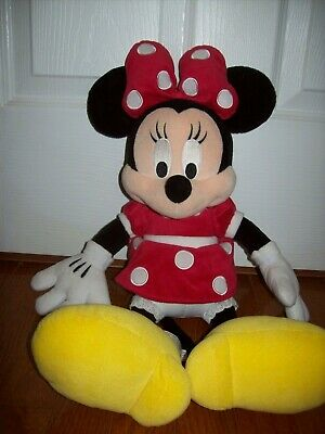 """Disney Minnie Mouse Plush Doll - Stuffed Toy Authentic Licensed- RED  18"""""""
