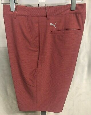 Puma Golf Marshall Mens Shorts - Rhubarb Red - New with Tags - 2019 Style