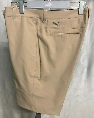 Puma Golf Jackpot Mens Shorts - White Pepper Khaki - New with Tags - 2019 Style