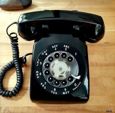 Western Electric Telephone Rotary Dial WE Desk Phone Bell Systems Blk 500