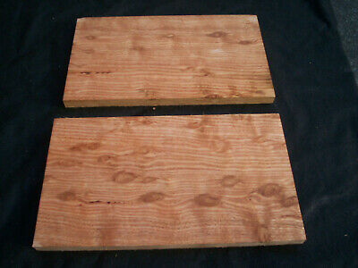 2 x Figured TEARDROP EUCALYPT Craft Boards