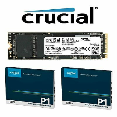 Crucial 500GB 1TB P1 SSD M.2 PCIe NVME NAND Internal Solid State Drive 2000MB/s