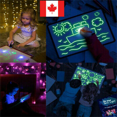 CA Draw With Light Fun And Developing Toy Drawing Board Magic Draw Educational/-