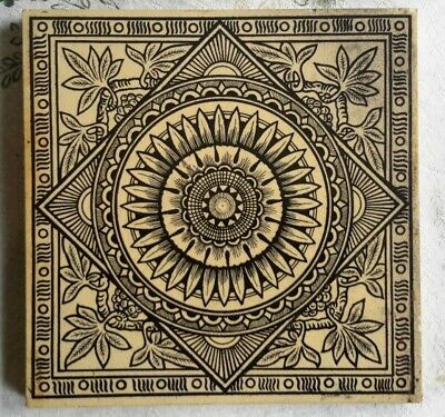 Arts & crafts tile (Christopher Dresser style)