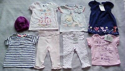 BNWT H&M TU TESCO Outfit bundle Dress Leggings & Tops Hat 6-18 Mth 1.5-2yr Girls