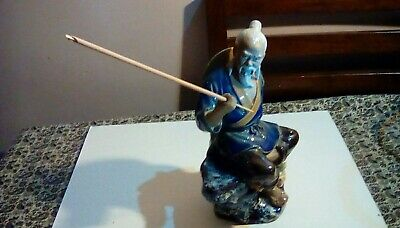 Vintage Chinese Mudman Figurine Shiwan Fisherman Excellent Condition