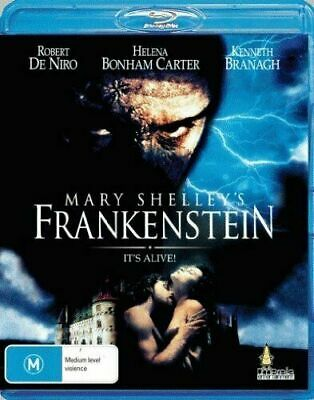 Mary Shelley's Frankenstein - Robert De Niro  - Blu Ray - New Sealed