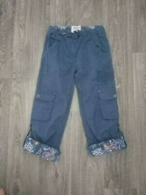 Fat Face girls lovely thick quality cargo trousers size 11Y long or 3/4 length