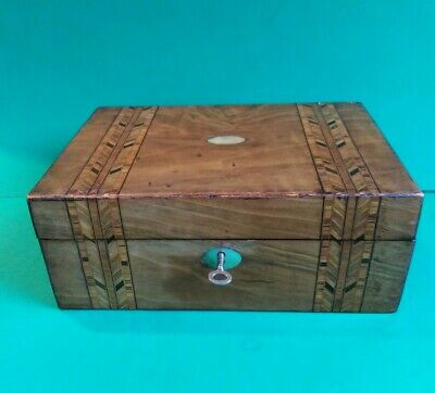 Victorian mahogany sewing box
