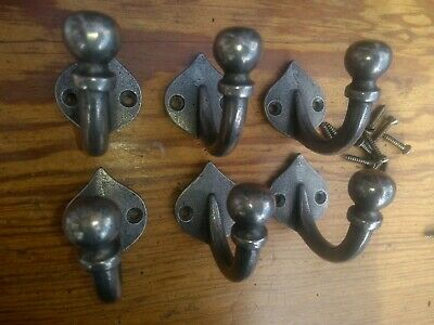 Set Of 6 Cast Iron Wadebridge Coat Hooks