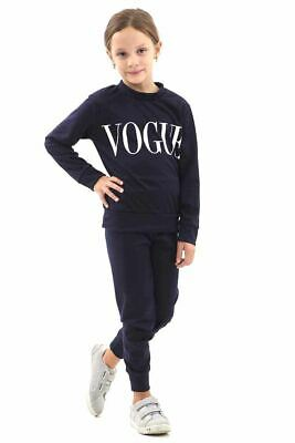 New Kids Long Sleeve Vogue Lounge Wear Tracksuit Set Casual Comfy Two Piece