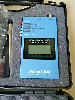 Outlet Showa Sokki MODEL1332B Digital Display Vibrometer EMS From Japan
