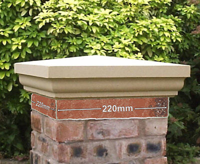 Cast Stone Fluted Regal Pier Caps Two Sizes And Colours 220 x 220 and 330 x 330