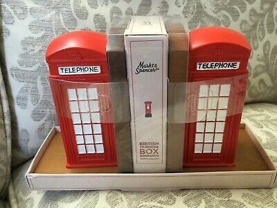 Marks And Spencer London Phone Box Book Ends Boxed
