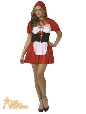 Adult Red Hot Riding Hood Costume Ladies Womens Book Week Day Fancy Dress