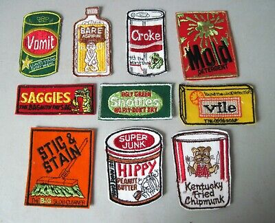 Vintage rare lot Wacky Pack Patches