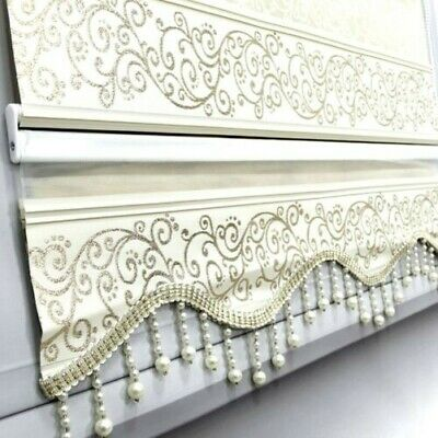 Double Roller Blinds Duo Zebra Perde Gold Glitter Effect Clip-Fit Retro