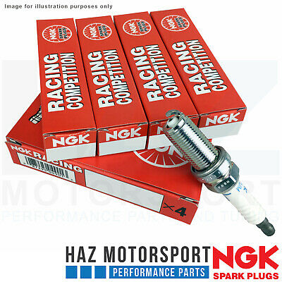 "NGK Racing Competition x4 Spark Plug Set ""8"" For VW Golf Mk7/7.5 GTI/Clubsport/S"
