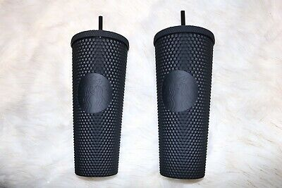 Fall 2019 Halloween Starbucks Matte Black Studded Cup tumbler limited edition!