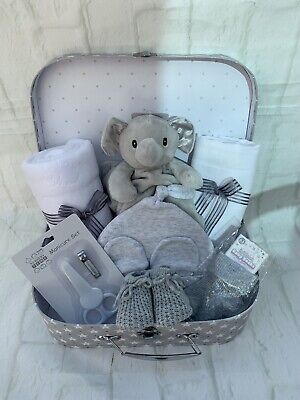 Large 10pce Baby Gift Hamper - Grey Stars