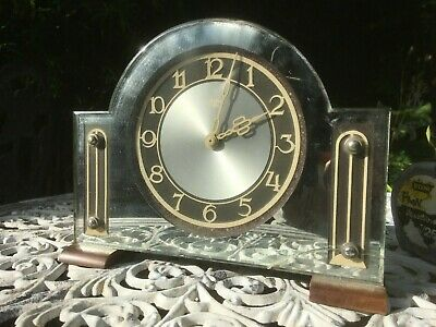 Smith sectric vintage mirrored electric clock for restoration