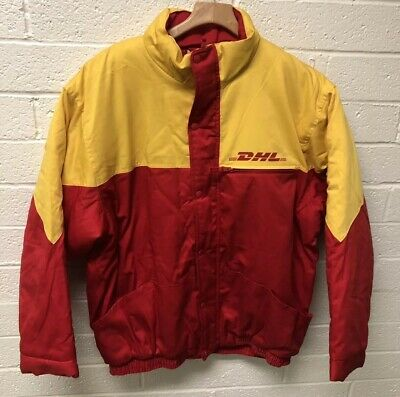DHL Mens Uniform Quilted Lined Puffy Jacket Size 2XL