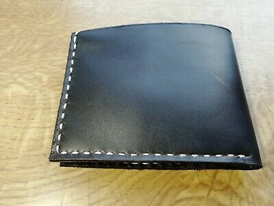 vintage style handmade carved real calf leather slim minimalist mens wallet