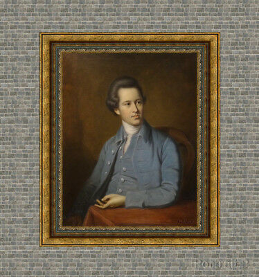"""Old Master Art Antique English Portrait Gentleman Oil Painting on Canvas 24""""x30"""""""