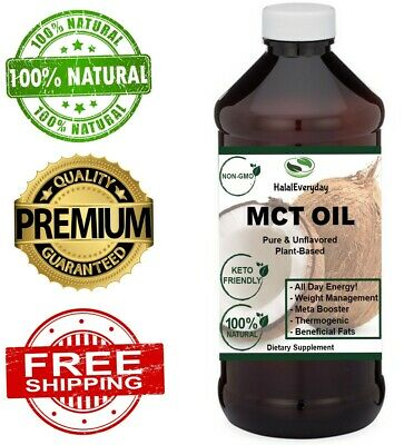 100% Pure MCT Oil From Coconut Keto Paleo Diet (Raise Ketones C8 & C10 MCTs)