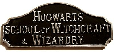 Hogwarts School of Witchcraft and Wizardry Harry Potter Aluminium Sign Plaque