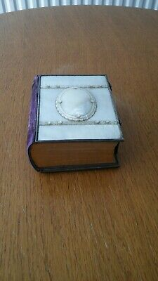 Victorian Mother Of Pearl And Velvet Backed Photo Album