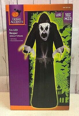 Home Accents Holiday 221900 Halloween 5 ft LED Grim Reaper Airblown Inflatable
