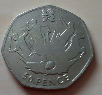 Olympic 50p modern pentathlon fifty pence coin circulated 2011