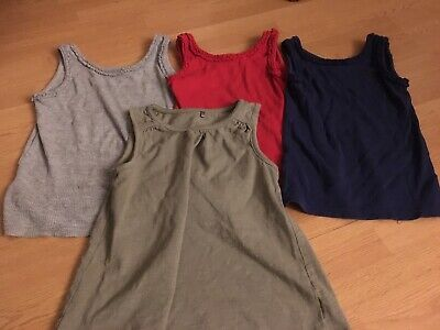 4x Girls Immaculate Vest Tops Bundle Nice Colours 4-5yrs