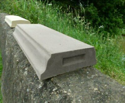Cast Stone High Chamfered Flat Wall Coping - Two Sizes, Buff/Portland Colour