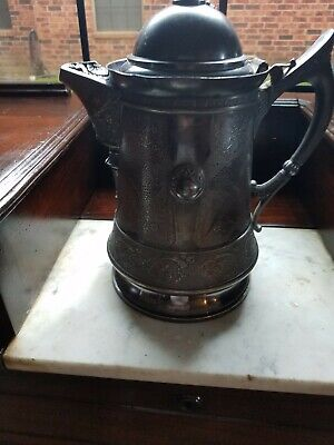 Rare Antique Pairpoint Triple Silverplate Tilting Water Pitcher, Rogers & Bro